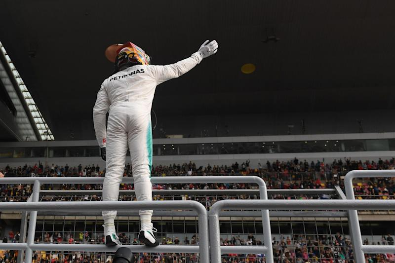 Box seat: Lewis Hamilton beat rival Sebastian Vettel by by 0.183 seconds: AFP/Getty Images