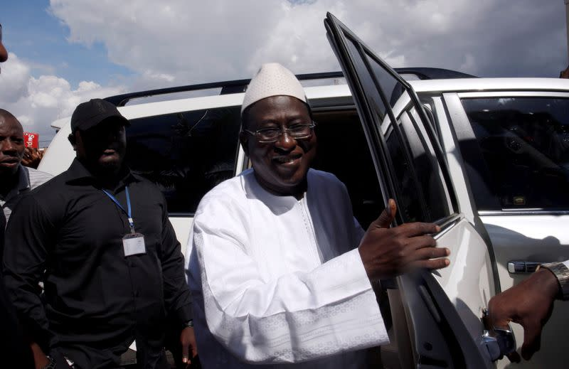 FILE PHOTO: Soumaila Cisse, leader of opposition party URD arrives at HQ in Bamako