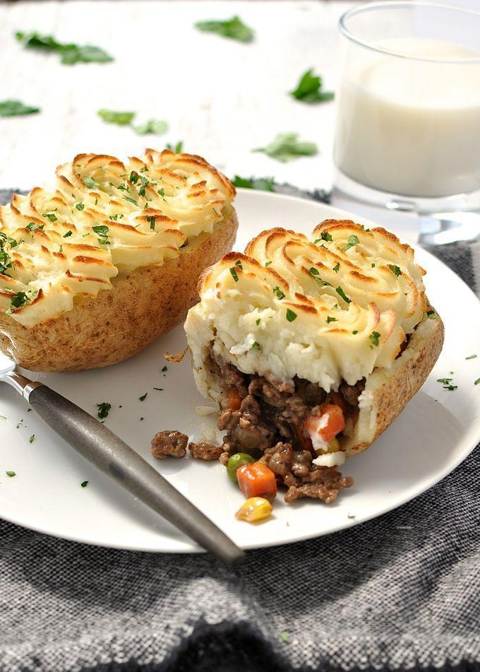 """<p>The only thing better than meat-topped baked potatoes is meat-topped baked potatoes topped with mashed potatoes.</p><p>Get the recipe from <a href=""""http://www.recipetineats.com/shepherds-pie-potato-skins/"""" rel=""""nofollow noopener"""" target=""""_blank"""" data-ylk=""""slk:Recipe Tin Eats"""" class=""""link rapid-noclick-resp"""">Recipe Tin Eats</a>.</p>"""