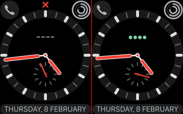 The green dots at 12 o'clock show you the strength of your cellular connection.