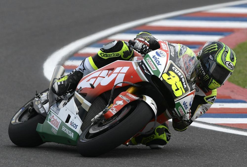 Cal Crutchlow secured his first points of the season by finishing third (Getty)