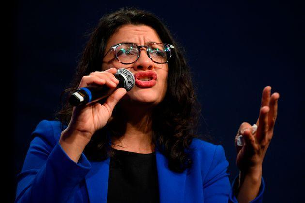 Rep. Rashida Tlaib and other members of the Congressional Progressive Caucusare threatening to vote no on the bipartisan infrastructure bill if Democratic leaders don't keep their promise. (Photo: JIM WATSON via Getty Images)