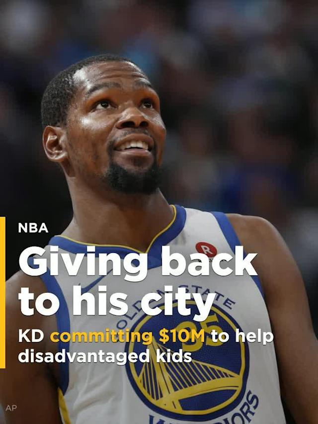 """Golden State Warriors forward Kevin Durant has committed $10 million to College Track, a program whose mission is to """"empower students from underserved communities to graduate from college."""""""