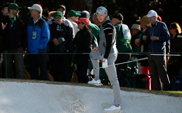 Danny Willett faced an awkward stance on the first - REUTERS