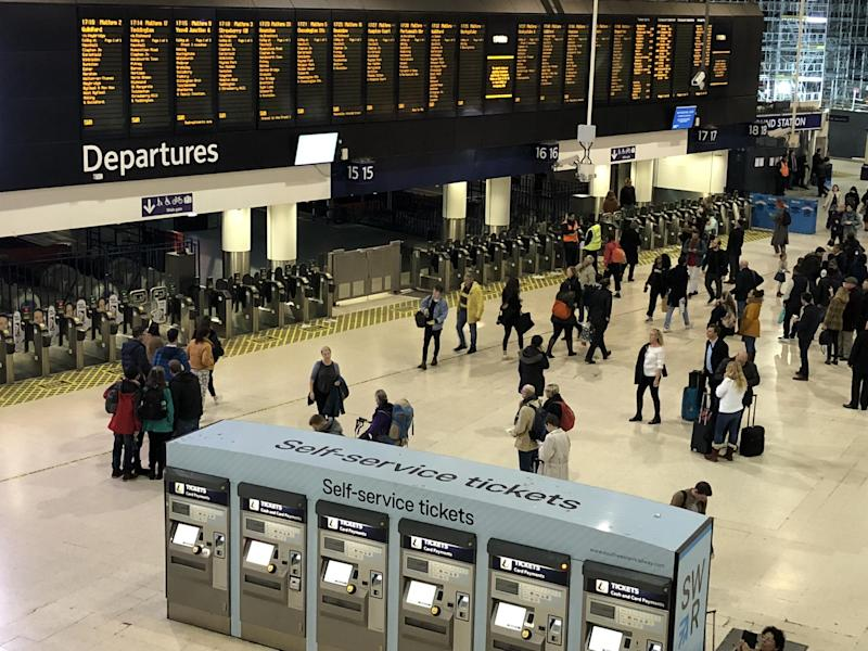 Going places? Around half the normal number of trains are expected to run
