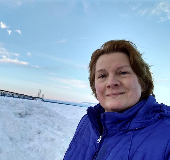 Karen Dunnam, 64, of Grand Rapids, moderates the western Michigan vaccine hunters Facebook group, helping people search for and schedule COVID-19 vaccines.