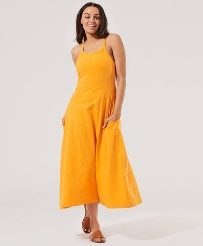 """<h2>Pact Fit and Flare Midi Dress</h2><br><strong><em>The Environmentalist</em></strong><em><br></em><br>For those looking for the best eco-friendly summer dress out there, Pact has your best bet in earth-friendly organic cotton. It doesn't hurt that this universally flattering style has a built-in bra and pocket for extra comfort and utility.<br><br><strong>The Hype: </strong>4.5 out of 5 stars; 491 reviews on Pact.com<br> <br><strong>What They're Saying: </strong>""""Built-in bra, pockets, four-way stretch — it's my favorite dress. I have it in black and blue with a pink one on the way. Dear Pact, please make this dress in red and yellow and navy. I will absolutely buy one of each. I consider this my uniform."""" — cdmf, Pact.com reviewer<br><br><em>Shop <strong><a href=""""http://wearpact.com"""" rel=""""nofollow noopener"""" target=""""_blank"""" data-ylk=""""slk:Pact"""" class=""""link rapid-noclick-resp"""">Pact</a></strong></em><br><br><strong>PACT</strong> Fit and Flare Midi Dress, $, available at <a href=""""https://go.skimresources.com/?id=30283X879131&url=https%3A%2F%2Fwearpact.com%2Fwomen%2Fapparel%2Fdresses%2520%26%2520skirts%2Ffit%2520%26%2520flare%2520strappy%2520midi%2520dress%2Fwd1-wfm-man"""" rel=""""nofollow noopener"""" target=""""_blank"""" data-ylk=""""slk:PACT"""" class=""""link rapid-noclick-resp"""">PACT</a>"""