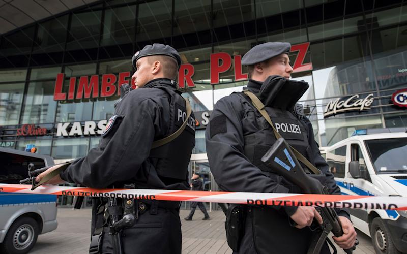 Police have ordered the shopping mall in the western German city of Essen not to open after receiving credible tips of an imminent attack - AP
