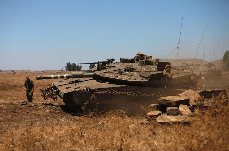 Israel strikes positions in Syrian Golan Heights