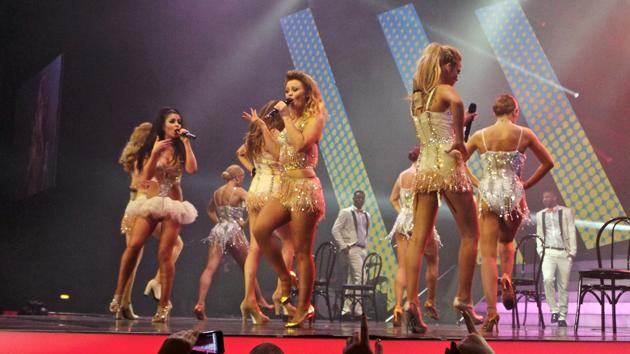 Girls Aloud Ten Tour photos: Girls Aloud in the first of many costumes. Copyright [WENN]