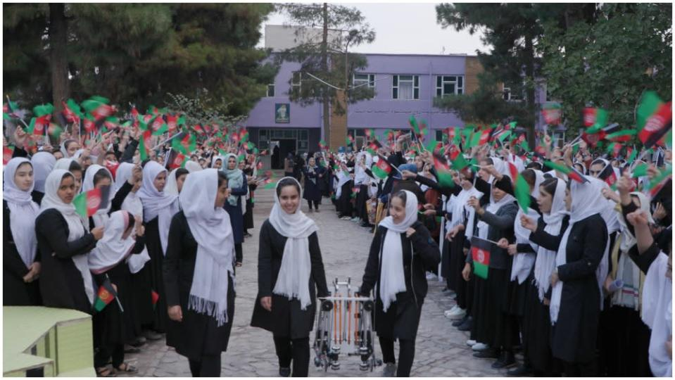 """The film follows six girls from the original robotics team, who were called the """"Afghan Dreamers."""" - Credit: David Greenwald"""