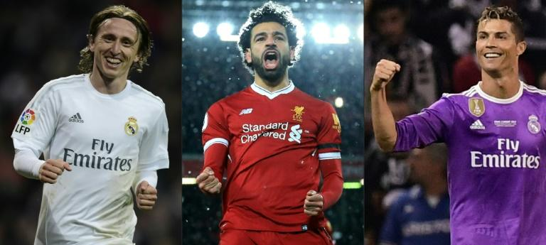 Luka Modric, Mohamed Salah and Cristiano Ronaldo are the finalists to win FIFA's player of the year award on Monday