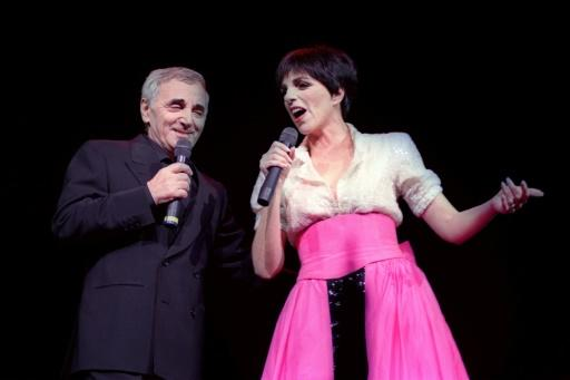 Aznavour performed with many of the biggest international names in entertainment, including US singer Liza Minnelli