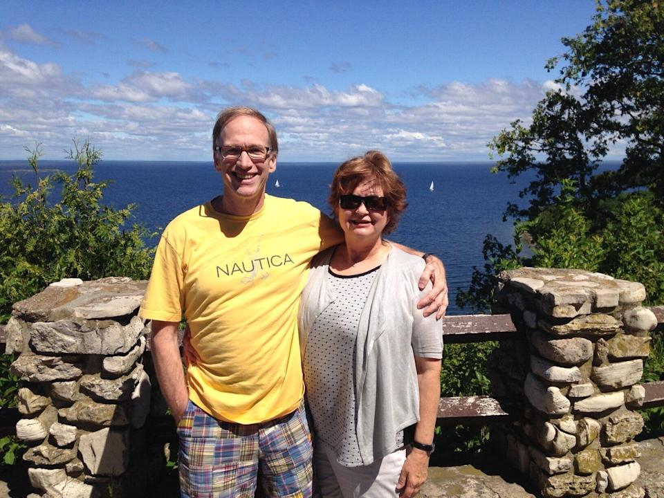 Posing on a scenic Lake Michigan overlook during one of our travel adventures. (Photo: Photo Courtesy Of  Laurie Eynon)