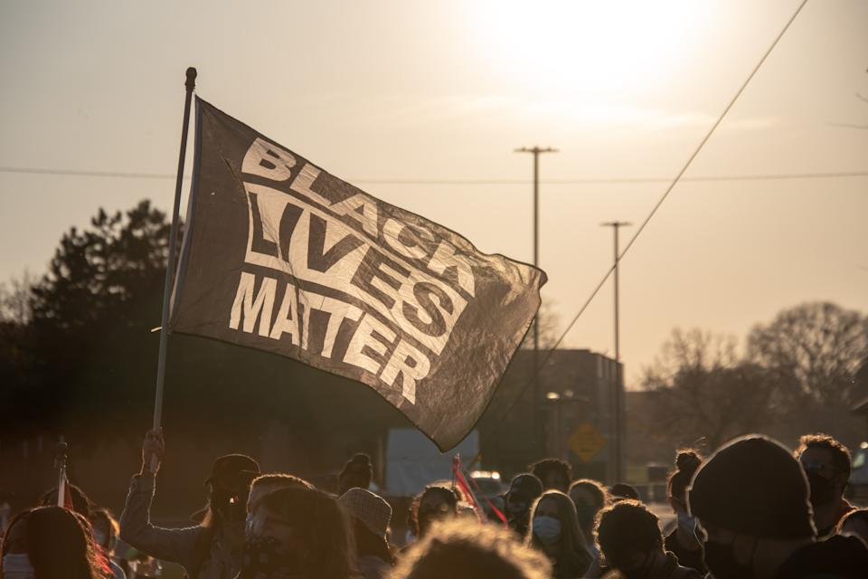 Activists from 12 Detroit organizations marched through the city on Nov. 7, 2020, to call for the protection of the city's votes. (Adam J. Dewey/NurPhoto via Getty Images)