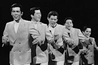 """<p>First a barbershop quartet of the eldest brothers, the Osmonds eventually were joined by younger brothers, Donny and Jimmy. The group had a squeaky-clean image and an appealing bubble-gum sound. Their first #1 single was <a href=""""https://www.amazon.com/One-Bad-Apple/dp/B000W25L0U/?tag=syn-yahoo-20&ascsubtag=%5Bartid%7C10063.g.35225069%5Bsrc%7Cyahoo-us"""" rel=""""nofollow noopener"""" target=""""_blank"""" data-ylk=""""slk:""""One Bad Apple"""""""" class=""""link rapid-noclick-resp"""">""""One Bad Apple""""</a> in 1970, followed by a series of hits including <a href=""""https://www.amazon.com/Away-Little-Girl-Album-Version/dp/B001NZPEES/?tag=syn-yahoo-20&ascsubtag=%5Bartid%7C10063.g.35225069%5Bsrc%7Cyahoo-us"""" rel=""""nofollow noopener"""" target=""""_blank"""" data-ylk=""""slk:&quot;Go Away Little Girl&quot;"""" class=""""link rapid-noclick-resp"""">""""Go Away Little Girl""""</a>(1971), <a href=""""https://www.amazon.com/Yo-Yo/dp/B000W23IZK/?tag=syn-yahoo-20&ascsubtag=%5Bartid%7C10063.g.35225069%5Bsrc%7Cyahoo-us"""" rel=""""nofollow noopener"""" target=""""_blank"""" data-ylk=""""slk:&quot;Yo-Yo&quot;"""" class=""""link rapid-noclick-resp"""">""""Yo-Yo""""</a>(1972) and <a href=""""https://www.amazon.com/Puppy-Love/dp/B079ZP7CPY/?tag=syn-yahoo-20&ascsubtag=%5Bartid%7C10063.g.35225069%5Bsrc%7Cyahoo-us"""" rel=""""nofollow noopener"""" target=""""_blank"""" data-ylk=""""slk:&quot;Puppy Love&quot;"""" class=""""link rapid-noclick-resp"""">""""Puppy Love""""</a>(1972). Donny and his sister, Marie, eventually emerged as teen idols with their own TV show from 1976 to 1979.</p>"""