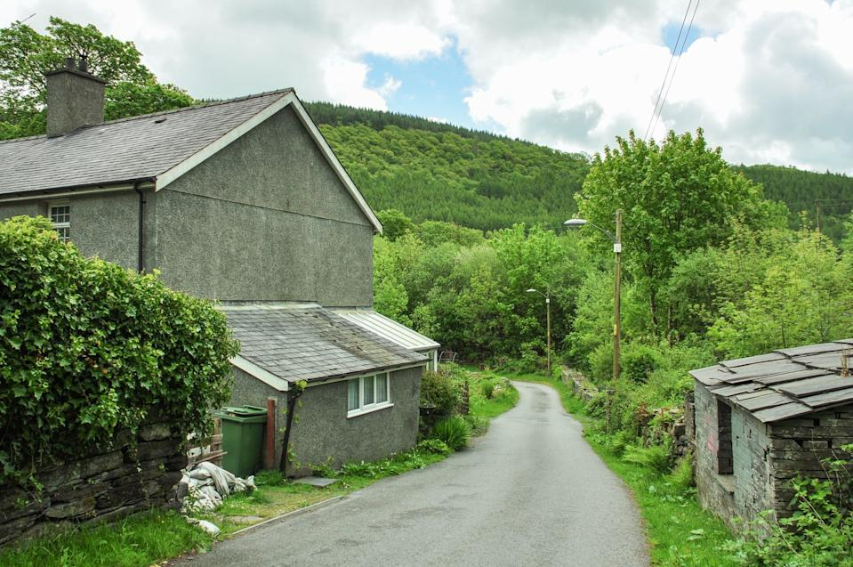 The properties are currently tenanted and previously housed workers from a nearby slate quarry. Photo: Dafydd Hardy