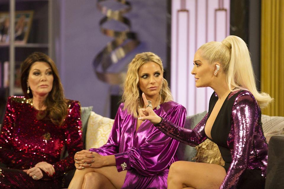 """<p><em>Real Housewives of Beverly Hills </em>star Kyle Richards told <em><a href=""""https://www.foxnews.com/entertainment/kyle-richards-dishes-on-behind-the-scenes-bravo-secrets-describes-torture-of-reunion-episodes"""" rel=""""nofollow noopener"""" target=""""_blank"""" data-ylk=""""slk:Fox News"""" class=""""link rapid-noclick-resp"""">Fox News</a> </em>that producers act fast when the women arrive on set for the reunion: """"We all go to our rooms—they like to keep us separate because they don't want any conversations to happen off camera because they want everything to happen on camera.""""</p>"""