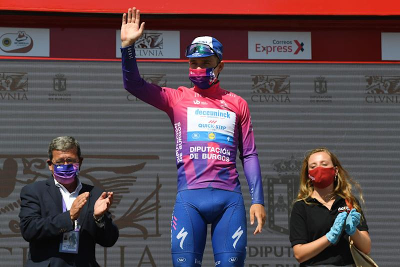 Remco Evenepoel leads the Vuelta a Burgos