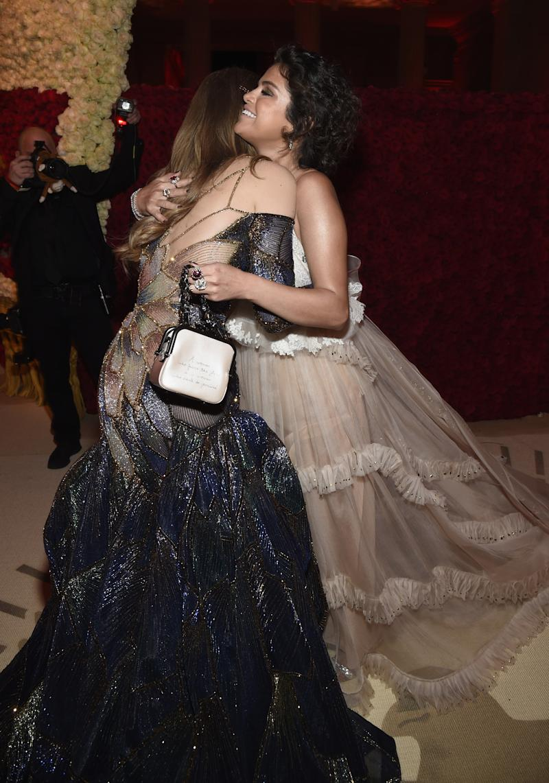 3ed0ddbf Selena Gomez Hid a Secret Message on Her Coach Bag at the Met Gala 2018