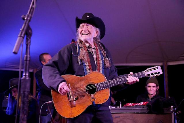 Willie Nelson performs at a Farm Aid benefit concert on March 14 in Texas. (Photo: Gary Miller/Getty Images)