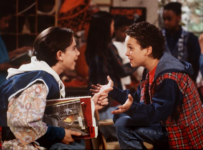 "Still looking for ""friends that will always stand by me"" like Shawn Hunter (Rider Strong) left, and Cory Matthews (Ben Savage) from ""Boy Meets World."""