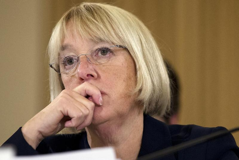 Senate Budget Committee Chair Sen. Patty Murray, D-Wash. listens to testimony during a Congressional Budget Conference on Capitol Hill in Washington, Wednesday Nov. 13, 2013. (AP Photo/Jacquelyn Martin)