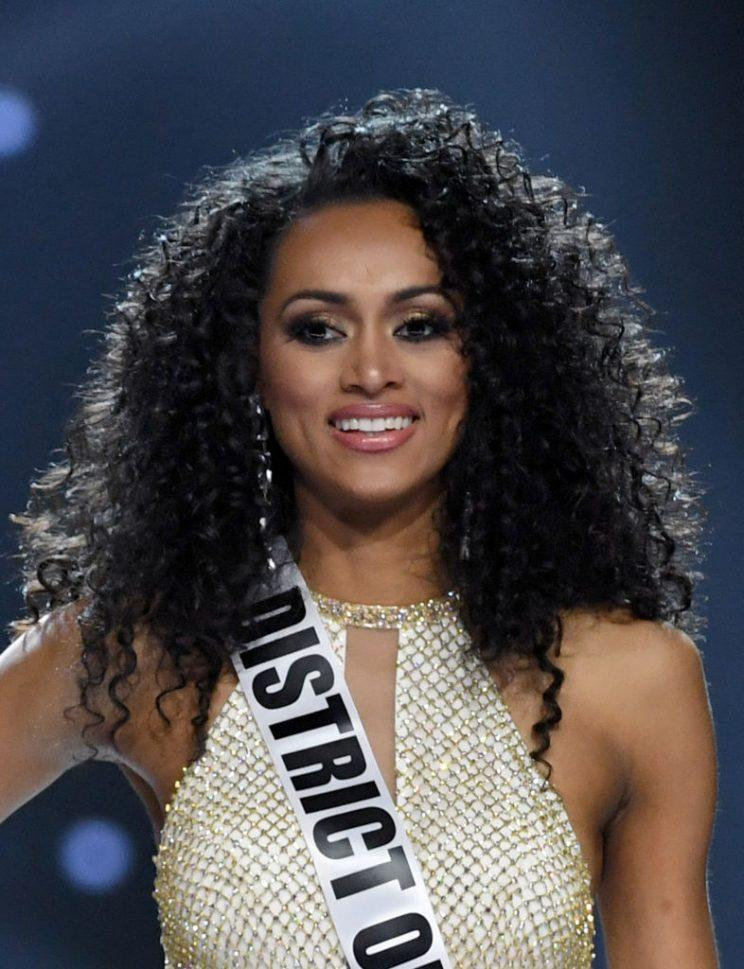 Kara McCullough shows off her natural curls during the Miss USA pageant