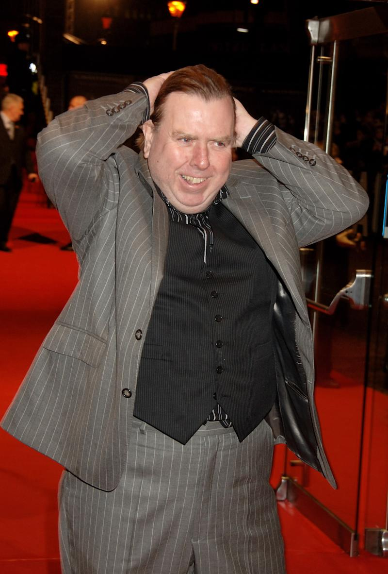 LONDON - JANUARY 10: (EMBARGOED FOR PUBLICATION IN UK TABLOID NEWSPAPERS UNTIL 48 HOURS AFTER CREATE DATE AND TIME) Actor Timothy Spall arrives at the European film premiere of 'Sweeney Todd', at the Odeon Leicester Square January 10, 2008 in London, England. (Photo by Dave M. Benett/Getty Images)