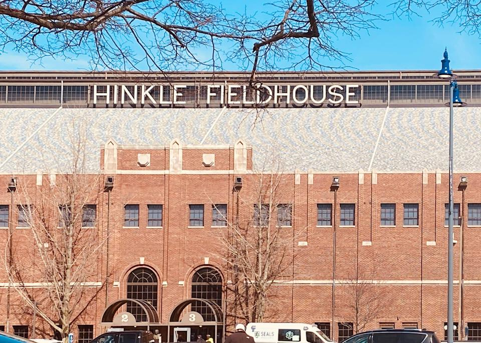 Where the madness began inside Hinkle Fieldhouse at 12:15 p.m. Friday, March 19.