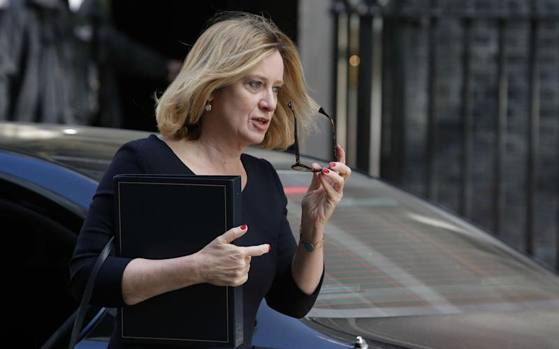 Amber Rudd, the Home Secretary - Credit: Daniel Leal-Olivas/AFP