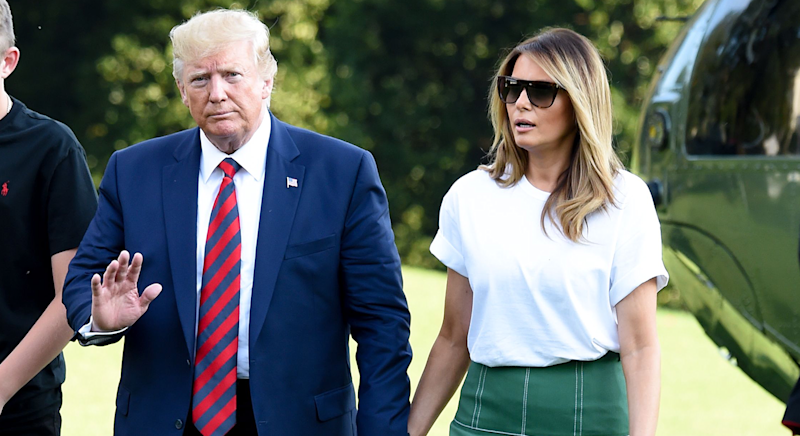 Donald and Melania Trump return to the White House [Photo: Getty]
