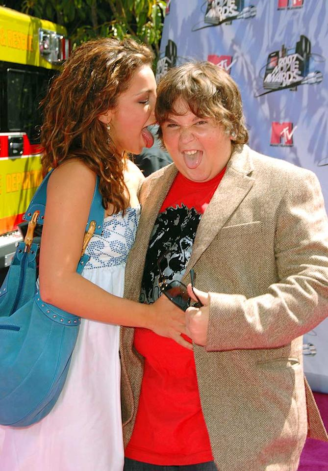 "Vanessa Lengies and Andy Milonakis can't keep their tongues to themselves. Steve Granitz/<a href=""http://www.wireimage.com"" target=""new"">WireImage.com</a> - June 3, 2007"