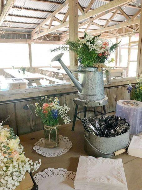PHOTO: DIY decor using fresh wild flowers and bouquets from Trader Joe's. (Jessica Hoyle-King)