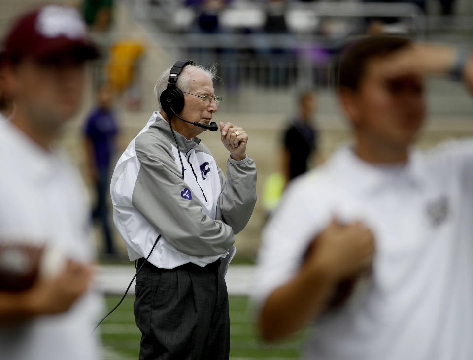 Kansas State is 2-2 after losses to Mississippi State and West Virginia. (AP Photo/Charlie Riedel)
