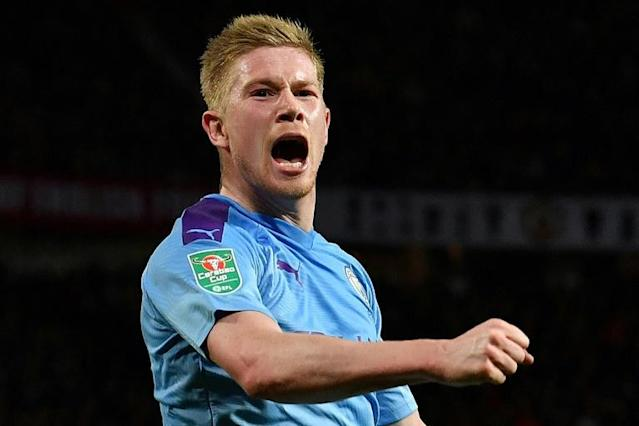 Manchester City midfielder Kevin De Bruyne plans to play for an extra two years because of the coronavirus (AFP Photo/Paul ELLIS)