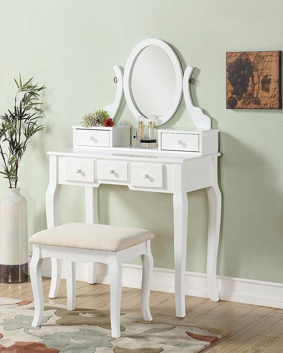 <p>This <span>vanity set</span> ($148) is an incredible deal considering the amount of storage you get. </p>