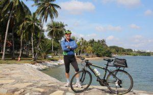 Tour leader Colin poses with his bicycle. Image: The Cycle Startup