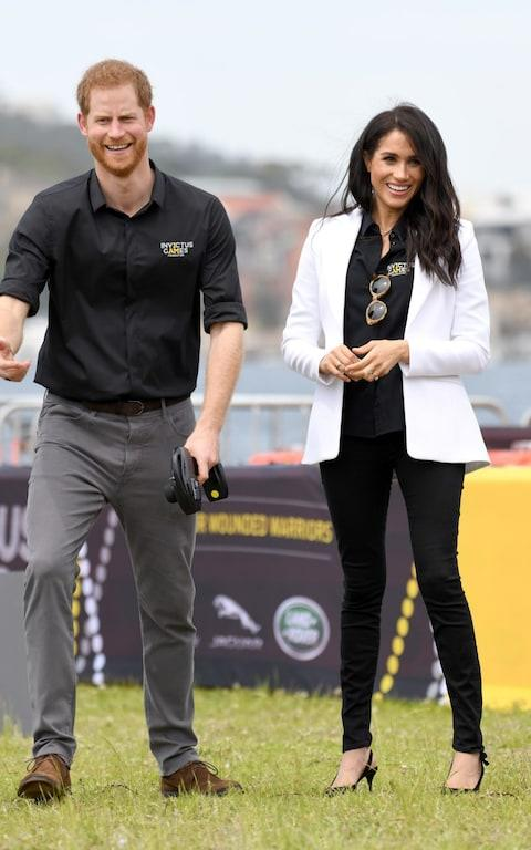 duke and duchess of sussex invictus games - Credit: Getty