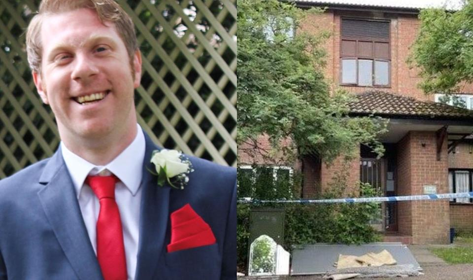 Richard Woodcock, 38, was found dead at a property in Milton Keynes (PA)