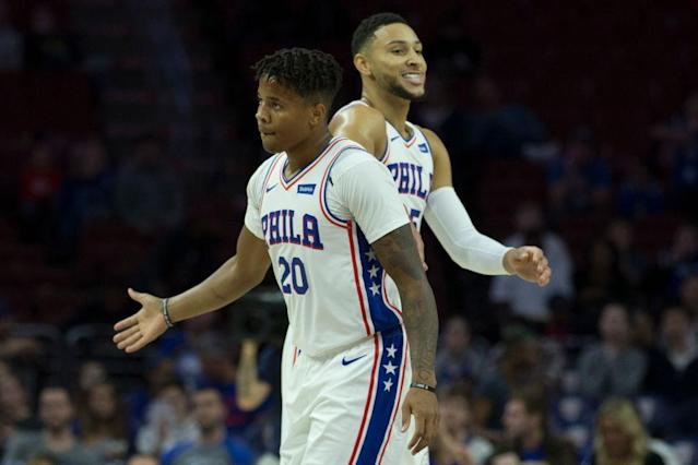 Markelle Fultz and Ben Simmons on the court together would be everything the 6ers dreamed of. (Getty Images)