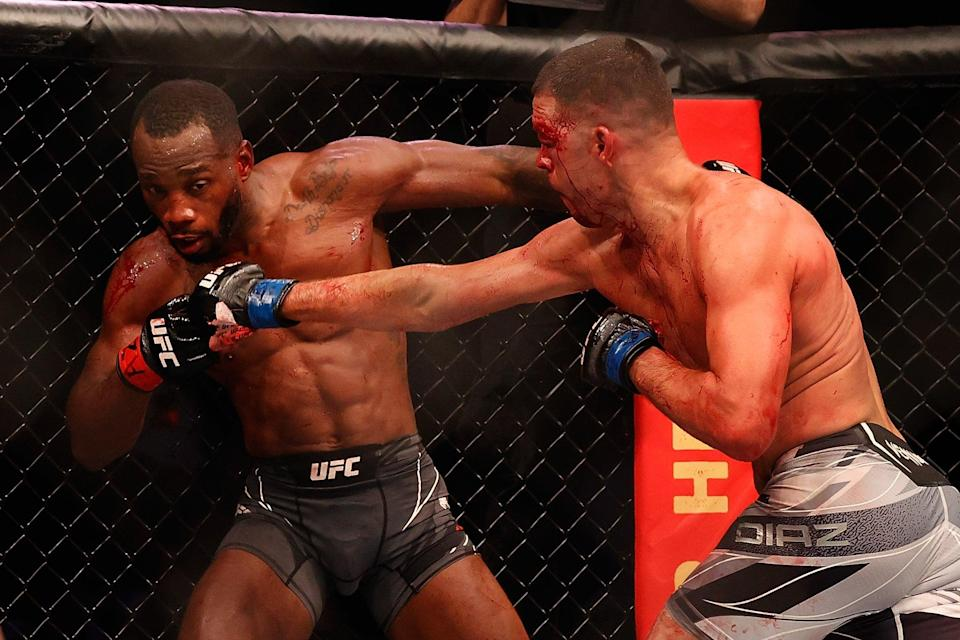 Leon Edwards survives a late rally by Nate Diaz (Getty Images)
