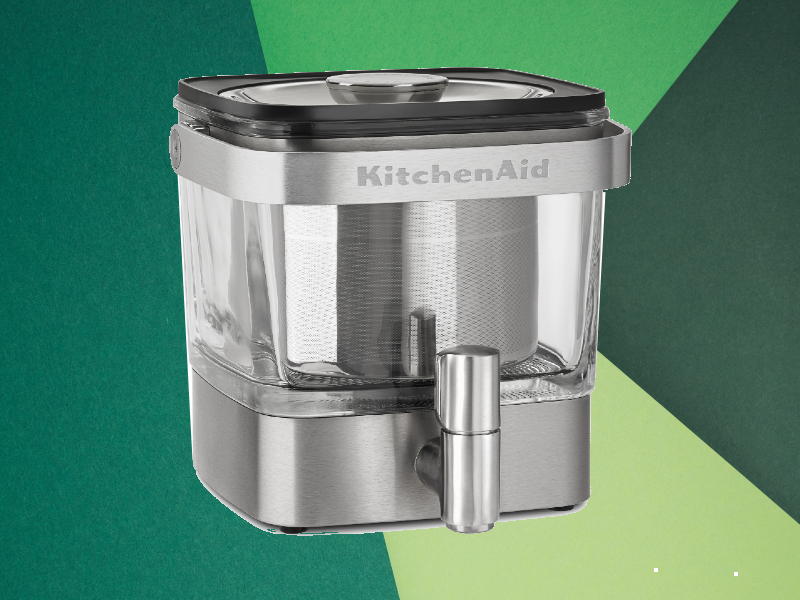 KitchenAid Brushed Stainless Steel Cold Brew Coffee Maker. (Photo: Walmart)