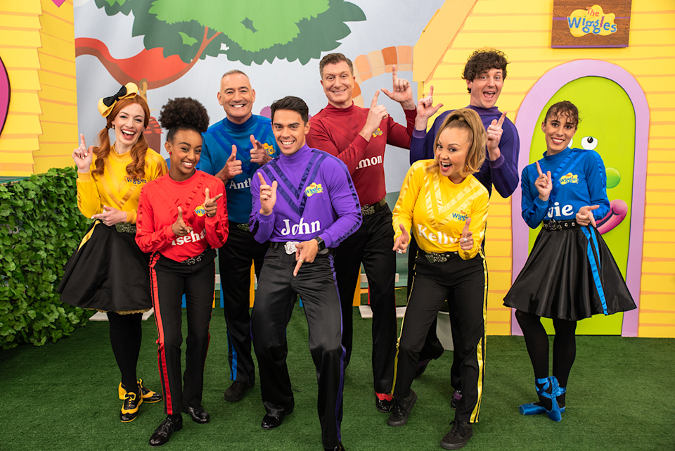 The Wiggles with their new members.