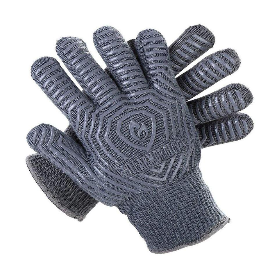 """<p><strong>Grill Armor Gloves</strong></p><p>amazon.com</p><p><strong>$29.95</strong></p><p><a href=""""https://www.amazon.com/dp/B00ZORPCGG?tag=syn-yahoo-20&ascsubtag=%5Bartid%7C2089.g.36490432%5Bsrc%7Cyahoo-us"""" rel=""""nofollow noopener"""" target=""""_blank"""" data-ylk=""""slk:Shop Now"""" class=""""link rapid-noclick-resp"""">Shop Now</a></p><p>Whether you're making stuffed homemade veggie patties, mini sliders, or a normal-sized burger, this easy-to-use, three-piece burger press will streamline your meal prep to ensure consistency in size and thickness. Everyone gets a similar-sized burger. One for you, too!</p>"""