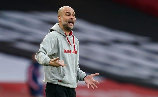 Guardiola has played down the significance of Sunday's Manchester derby