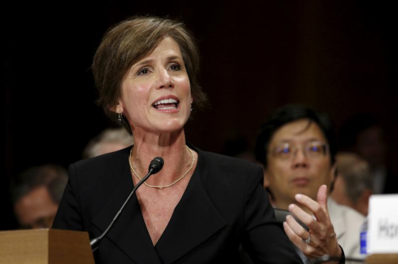 Trump urges Senate probe to press Sally Yates over leaks