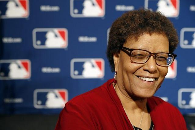 Claire Smith is the first female winner of the Spinks award, baseball writing's top honor. (AP Photo)