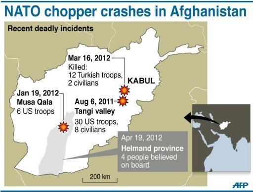 NATO chopper crashes in Afghanistan