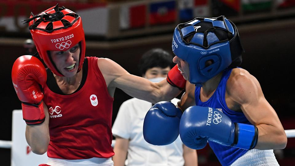 Canadian boxer Mandy Bujold may have won something more important than a medal these Olympics. (Luis Robayo / Getty Images)